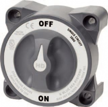 Blue Sea Heavy Duty Battery Switch. On/Off single circuit with AFD *   Inc. VAT